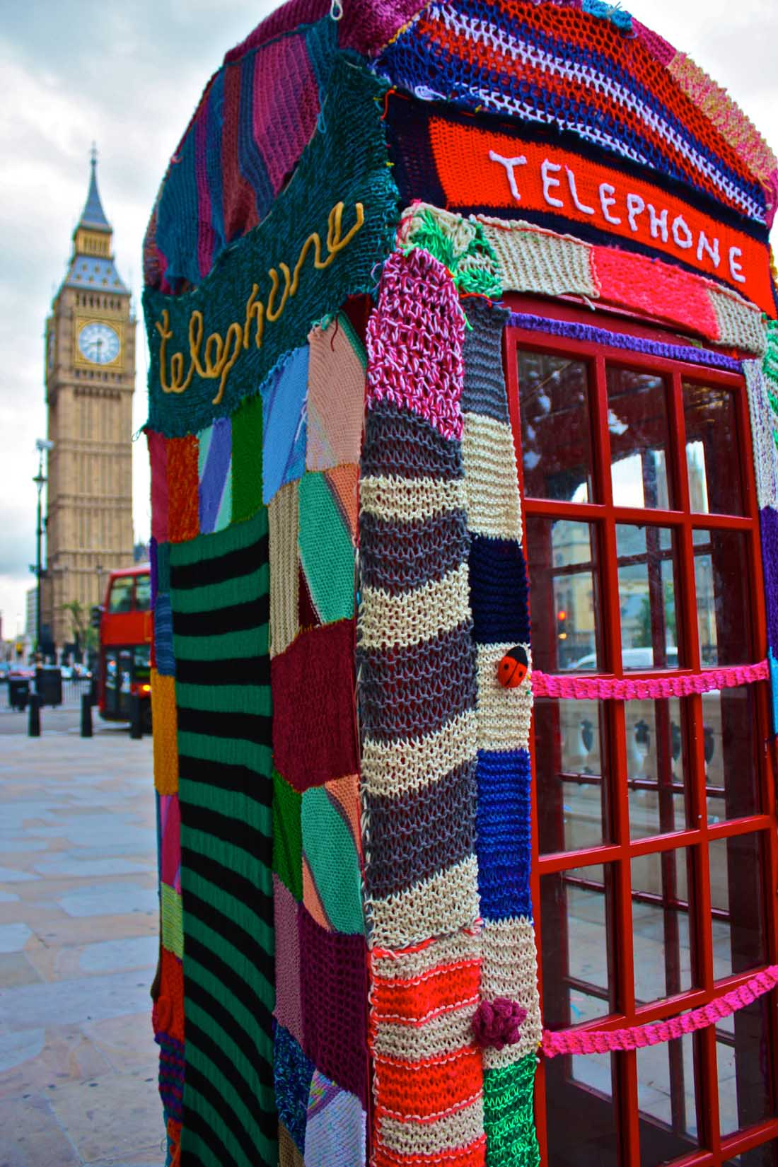 yarn bombing london